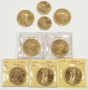 Group of American Gold Eagles