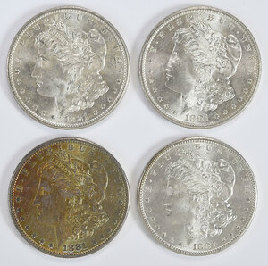 Two Rolls 1881-S Morgan Silver Dollars