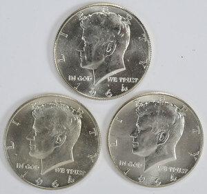 Group of 1964 Kennedy Half Dollars