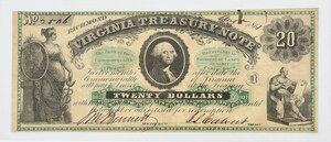 1861 $20 Virginia Treasury Note