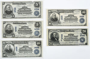 Five Large Tennessee National Notes