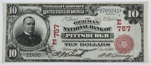 1902 $10 German NB Pittsburgh, Pennsylvania
