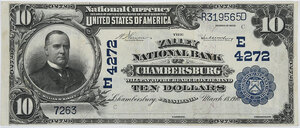 1902 $10 Valley NB Chambersburg, Pennsylvania