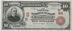 1902 $10 Fourth NB Cincinnati, Ohio