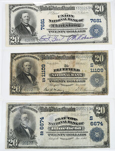 Three Large West Virginia National Notes