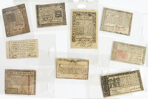 Group of Colonial Notes and Ephemera