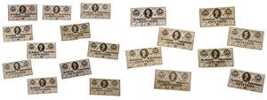 19 Jefferson Davis Fractional Confederate Notes