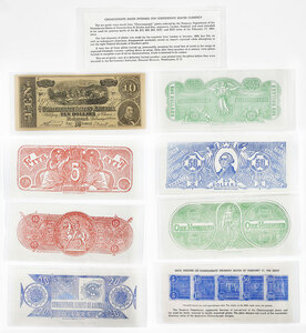 Confederate Chemicograph Backs and Ad Note