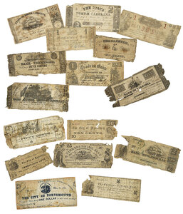 17 Assorted Southern States Notes