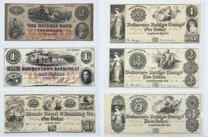 21 New Jersey Obsolete Bank Notes