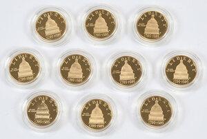 Ten Congress Bicentennial $5 Gold Coins