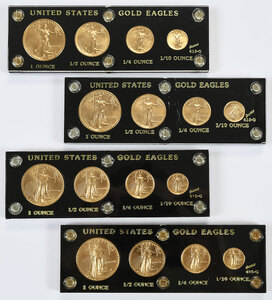 1986-1989 American Gold Eagle Four Piece Sets