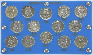 Set of Franklin Half Dollar Proofs