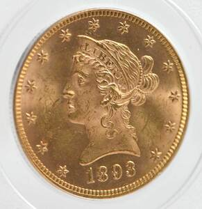 1893 Liberty Head $10 Gold Coin