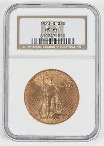 1923-D St. Gaudens $20 Gold Coin