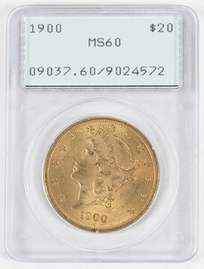 1900 Liberty Head $20 Gold Coin