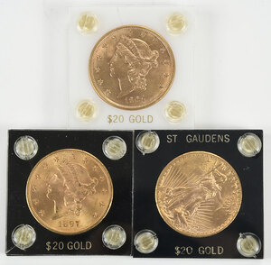 Three $20 Gold Coins