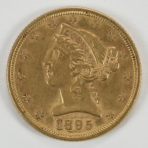 1895 Liberty Head $5 Gold Coin