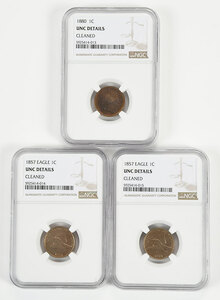 Group of Three Small Cents