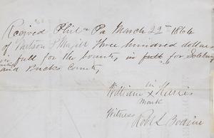 Civil War Volunteer Certificate