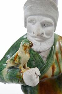 Chinese Sancai and Straw Glazed Pottery Figures