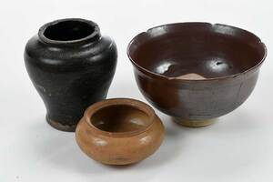 Four Pieces Chinese Glazed Pottery