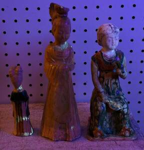 Three Chinese Pottery Figures of Court Ladies