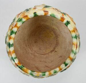 Chinese Sancai Glazed and Appliqued Jar