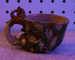 Chinese Sancai Glazed Pottery Rhyton