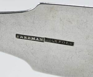 Norfolk Coin Silver Ladle, Joseph Freeman