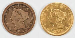 Five $2.50 Gold Coins