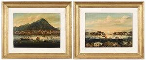Pair China Trade Style Paintings