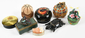 35 Assorted Small Lidded Boxes