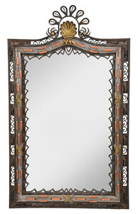 Fine Art Deco Mixed Metals Mirror