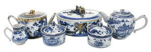 Six Pieces Blue and White Export Porcelain