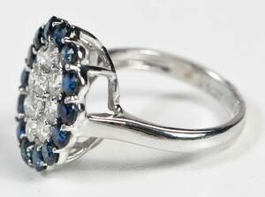 14kt. Diamond and Sapphire Ring
