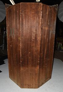 Victorian Figured and Inlaid Corner Cupboard