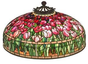 Fine Tiffany & Co. Tulip and Bamboo Floor Lamp