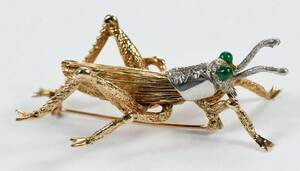 14kt. Grasshopper Brooch
