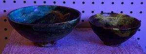 Two Chinese Jizhou Glazed Stoneware Tea Bowls