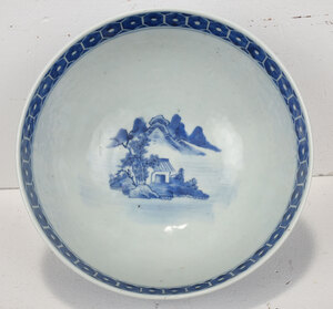Chinese Blue and White Porcelain Dragon Bowl