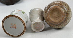 Six Miniature Chinese Porcelain Objects