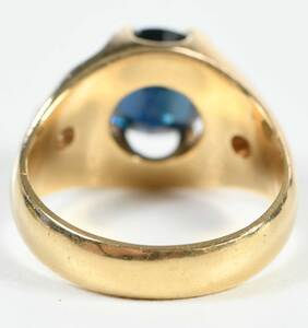 18kt. Sapphire and Diamond Ring